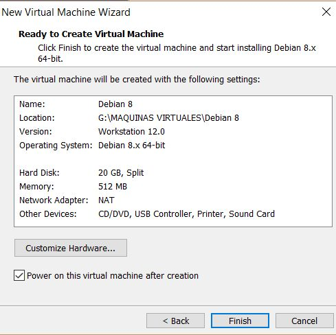 VMWare Workstation Player 12 - Finalización proceso estándar
