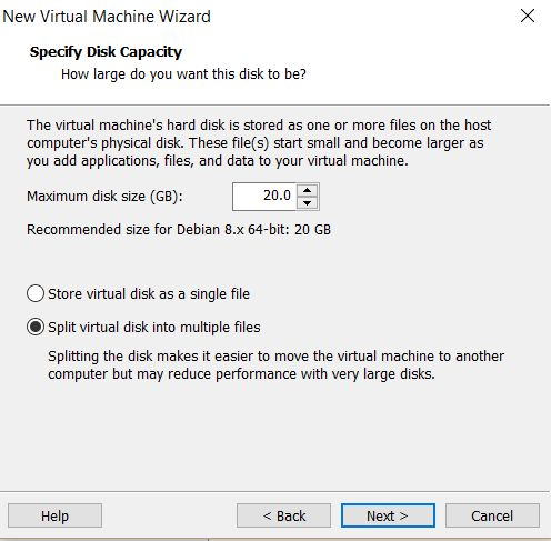 VMWare Workstation Player 12 - Disco duro virtual
